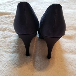 Rampage Shoes - NWT Rampage navy blue with multi color heels